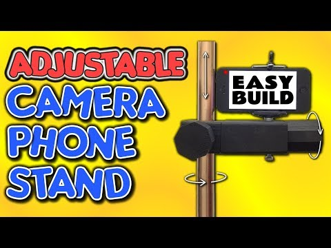 How To Make An ADJUSTABLE Phone Camera Stand – by VegOilGuy