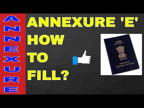 HOW TO FILL ANNEXURE 'E' FOR PASSPORT? ALL INFO WITH SAMPAL! ON YOUR DEMAND!! (HINDI)
