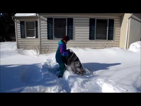 Snow Cleaning a Braided Rug 2016
