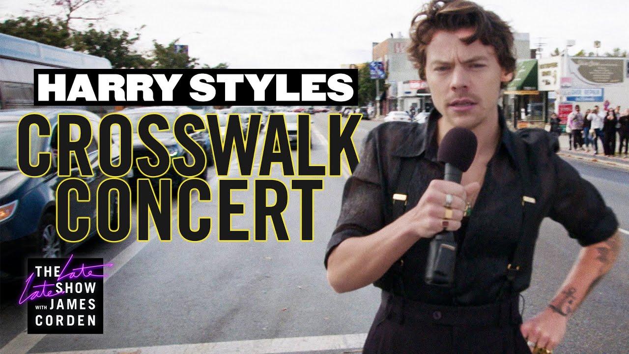 Harry Styles Performs a Crosswalk Concert