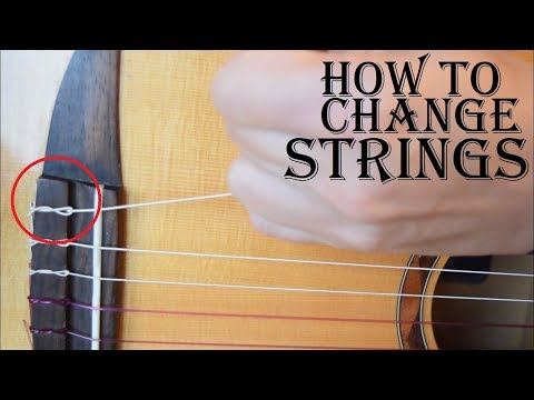 How to change strings your nylon string guitar - Spanish, flamenco and classical guitar