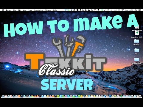How To Make A Tekkit Classic Server Mac (HD)