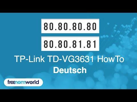 Freenom World TP-Link TD-VG3631 HowTo (German)