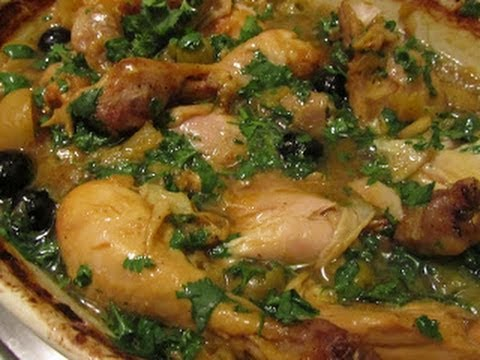 Chicken Tagine with preserved lemons and olives (Morocco)