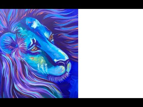 Acrylic painting tutorial | Lion | The Art Sherpa paint along