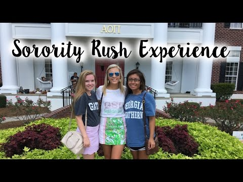 Sorority Rush Experience // Getting Dropped