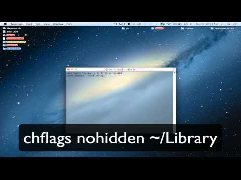 howto FIND YOUR LIBRARY FOLDER IN MAC OSX MAVERICKS