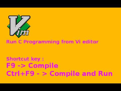 Create shotcut key in vim to run a C program. (English)
