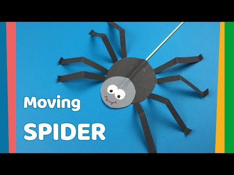 DIY for kids Moving Spider craft | Very easy and fun craft