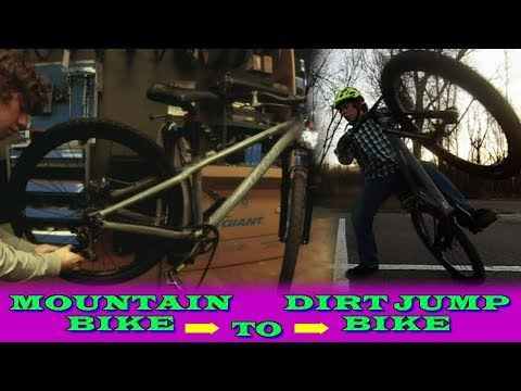 Converting an Old Mountain Bike [Saved from the Trash] into a Dirt Jump/Street Bike!