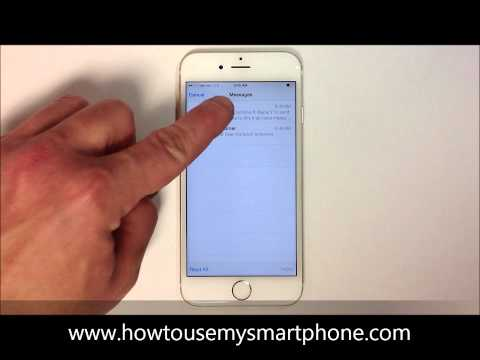 How to Delete Multiple Text Messages - iPhone 6