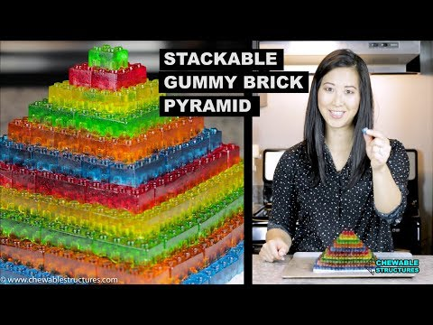 How To Make GUMMY LEGO Jello Candy - DIY Stackable Jello Gummy Lego Blocks (Make Jello Lego Gummies)