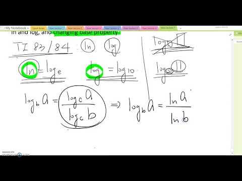 5.5: ln, log and changing base property
