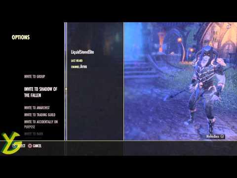 Elder Scroll Online - How To Send Guild Invite (EASY)