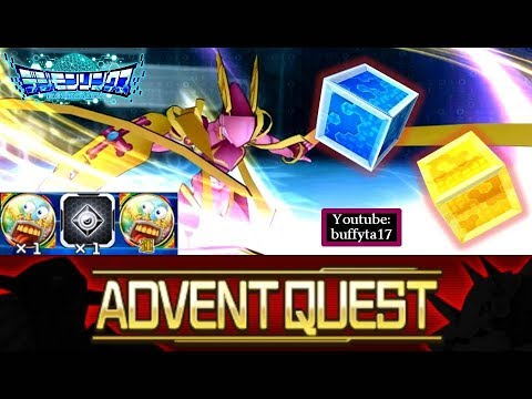 Digimon Linkz - Testing Advent Quest & Luck