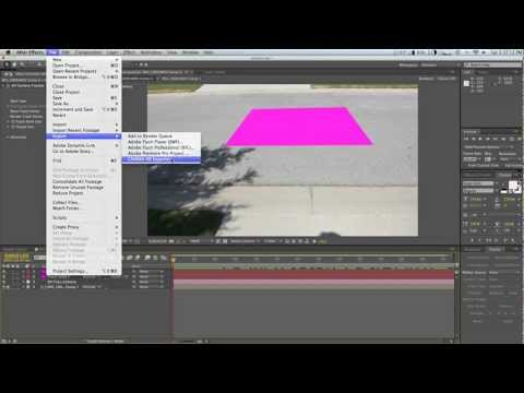 After Effects 3D Camera Tracker to Cinema 4D