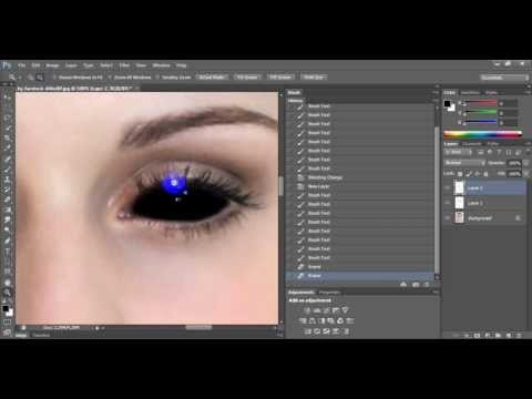 Make black eyes in photoshop cs6 tutorial for begginers
