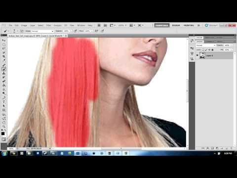 Photoshop CS5: How To Change Hair Colour