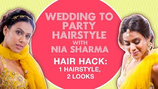 The Perfect Wedding Hairstyle Hack Using Hair Accessories | With Nia Sharma