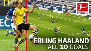 All 10 Haaland Goals   Bundesliga 2019/20 so far …