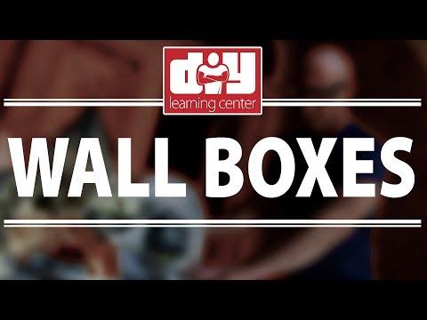 How to install wall boxes
