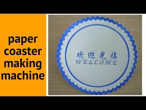 paper coaster making machine
