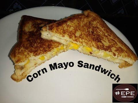 How to make Quick  Corn Mayo Sandwich