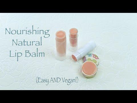 Using Nourishing Vegan Lip Balm Base