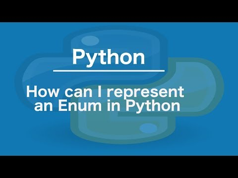How to represent an Enum in Python