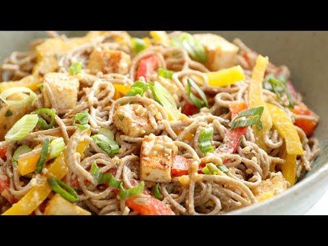 Spicy Peanut Noodle Soba Salad