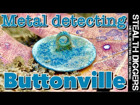 Buttonville 1700s cellar hole metal detecting colonial site #235 tons of old buttons 1800s homesite