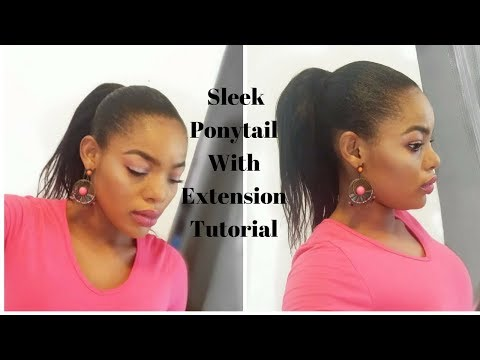 How To Super Sleek Ponytail With Extensions | GoldQueen Queency