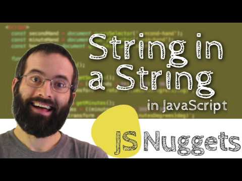 How do you check if a string is in another string? (JavaScript)