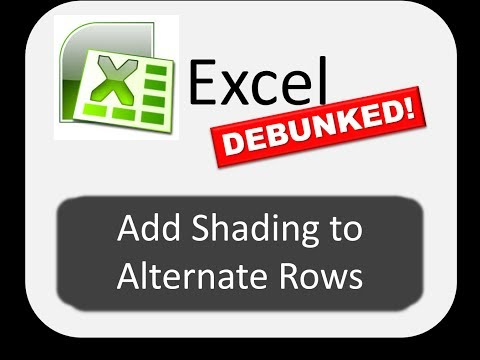 How to Add Shading to Alternating Rows -- Excel DEBUNKED