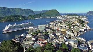 Alesund in Norway - Filmed From Mount Aksla Viewpoint