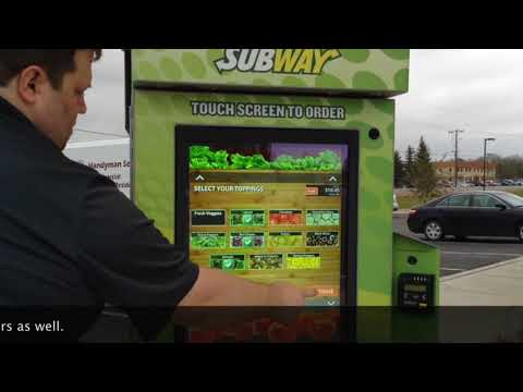 Self-order at Subway's newest location in Aberdeen