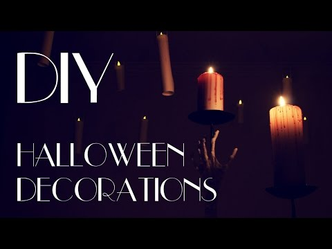 DIY - Creepy Halloween Decorations [Corpse Hand, Bloody Candles, Floating Candles]