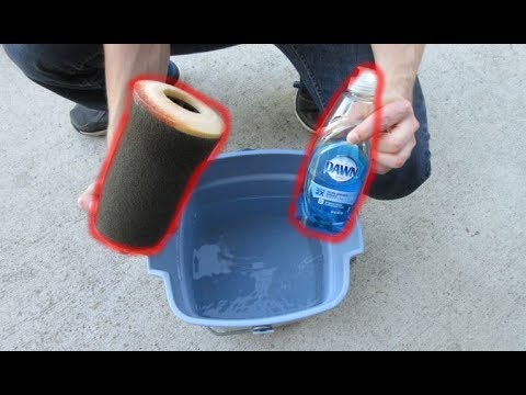 How to Clean and Oil a Air Filter (Dish Soap)