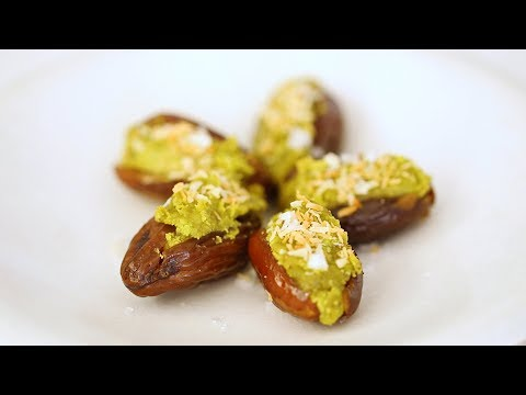 Pistachio-Stuffed Dates with Coconut- Healthy Appetite with Shira Bocar