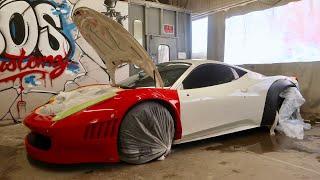 Painting the Ferrari GT3 458!