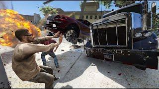 gta 5 truck crash Videos - 9tube tv