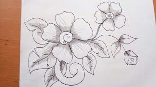 Unduh 580 Gambar Sketsa Bunga Untuk Batik Paling Cantik