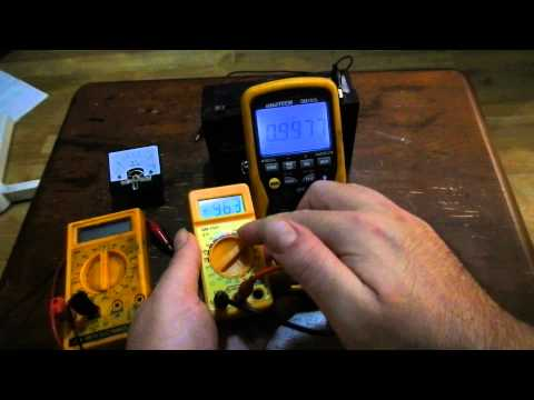 How to test input impedance of a Voltmeter and Ammeter