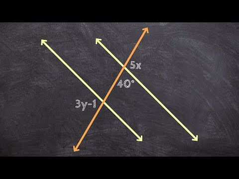 Given Parallel Lines Find the Value of X and Y
