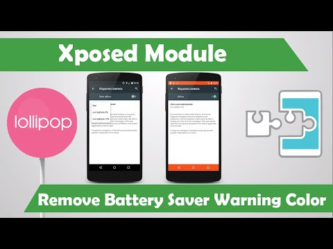 Xposed mod - Remove Battery Saver Warning Color [Android Lollipop]