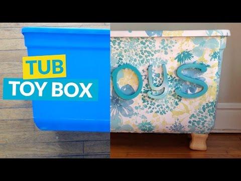 Storage Tub Turned Toy Box