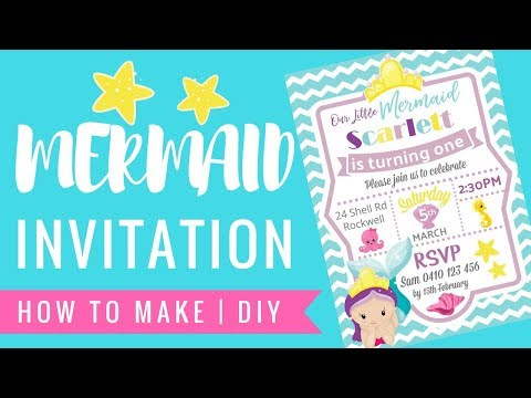 HOW TO MAKE MERMAID UNDER THE SEA DIGITAL INVITATION WITH PICMONKEY