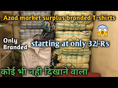 Azad market surplus and used branded T-Shirts wholesale market for boys, mens, males and gents