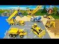 Lego Bulldozer Concrete Mixer Dump Truck Mobile Crane Tractor Excavator Toy Vehicles For Kids
