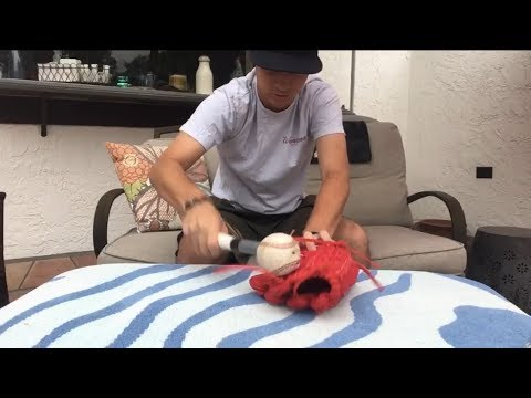 How to break in a glove quickly without forming creases!!